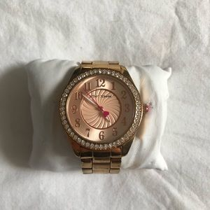 BETSY JOHNSON ROSE GOLD WATCH